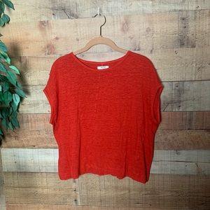 Madewell Red Short Sleeve Shirt